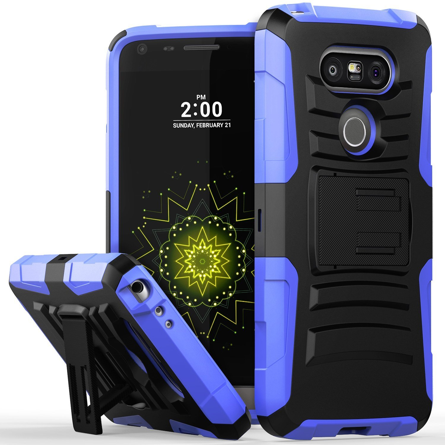 LG G5 Holster Case, REDshield® [Blue] Supreme Protection Hard Plastic on Silicone Skin Dual Layer Hybrid Case