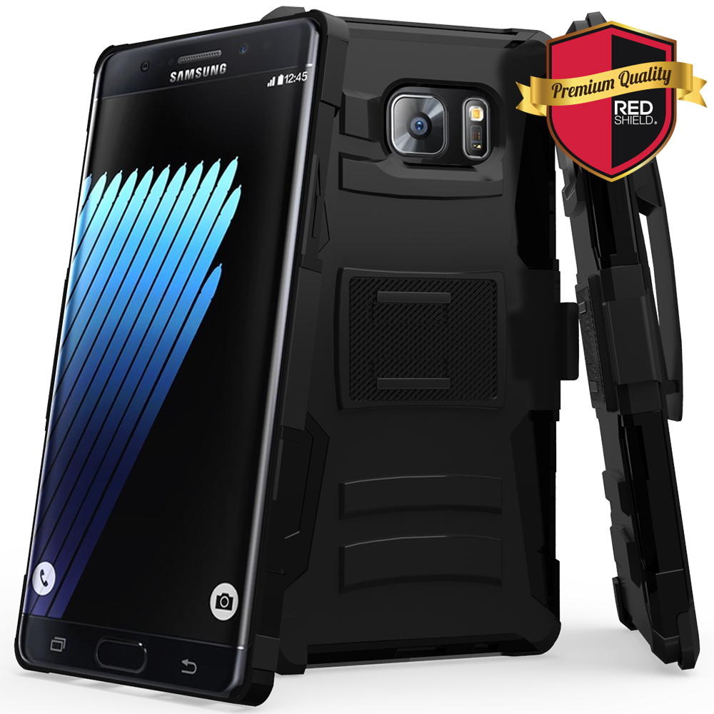 Samsung Galaxy Note 7 Holster Case, REDshield [Black] Supreme Protection Hard Plastic on Silicone Skin Dual Layer Hybrid Case