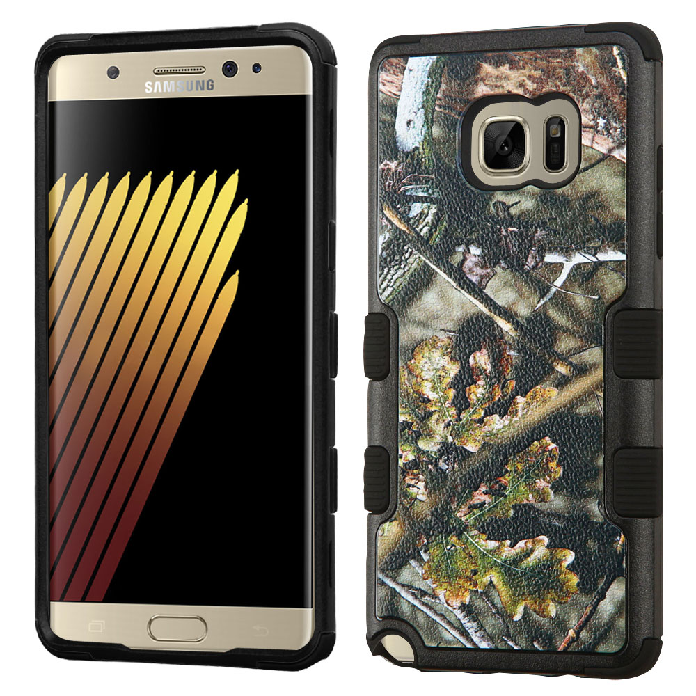 Samsung Galaxy Note 7 Case, TUFF Hybrid Dual Layer Hard Case on Silicone Skin [English Oak -Hunting Camouflage]
