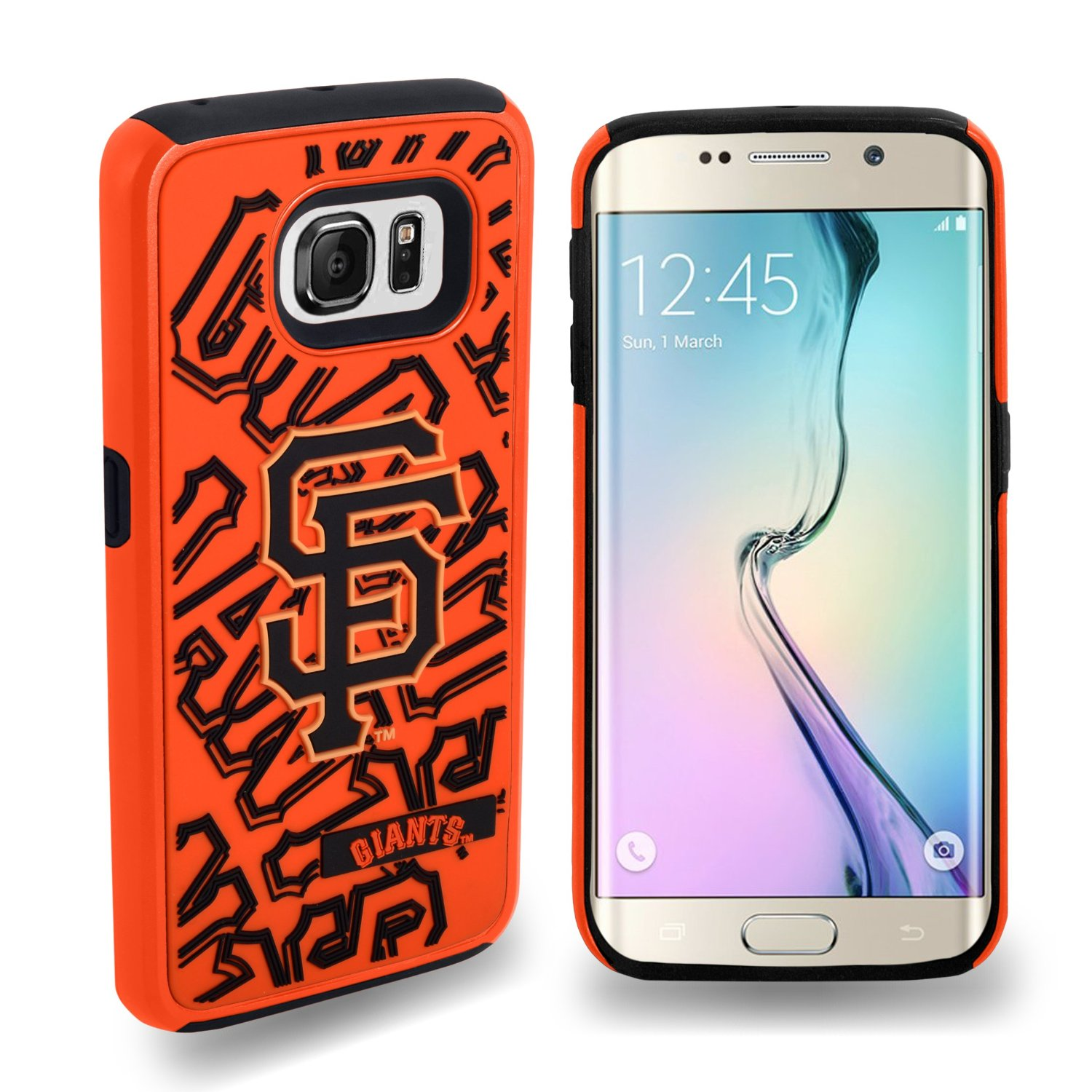 Samsung Galaxy S6 Edge NFL Case, Slim Dual layer Hybrid Hard Case on TPU Case [San Francisco Giants]