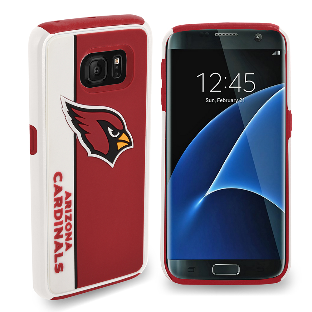Samsung Galaxy S7 MLB Case, Slim Dual layer Hybrid Hard Case on TPU Case [Arizona Cardinals]