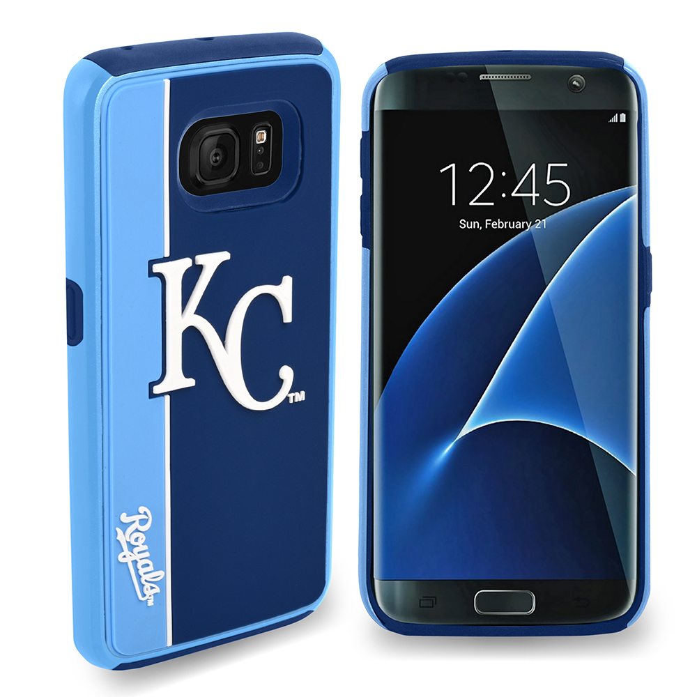 Samsung Galaxy S7 MLB Case, Slim Dual layer Hybrid Hard Case on TPU Case [Kansas City Royals]