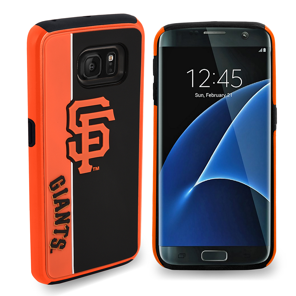 Samsung Galaxy S7 MLB Case, Slim Dual layer Hybrid Hard Case on TPU Case [San Francisco Giants]