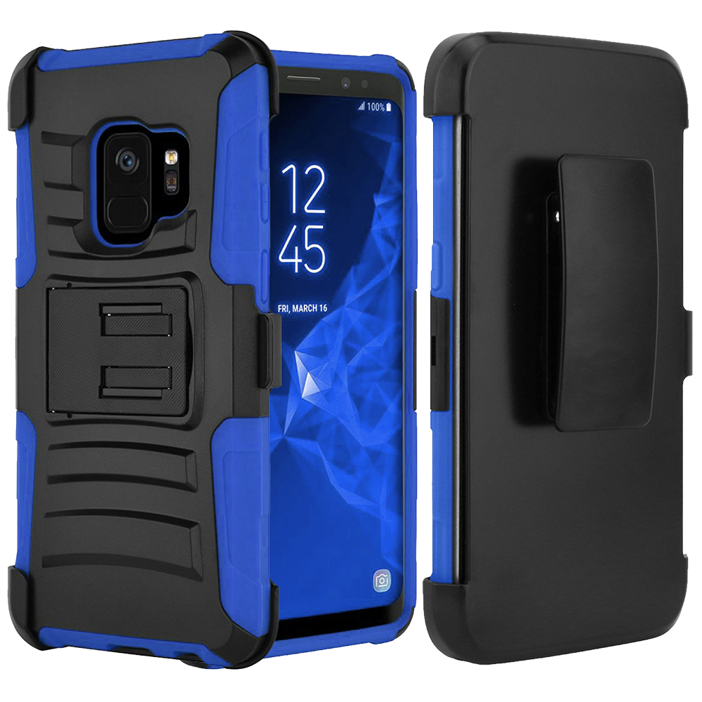 [SAMSUNG GALAXY S9 PLUS] Holster Case, REDshield [Blue/Black] Supreme Protection Hard Plastic on Silicone Skin Dual Layer Hybrid Case