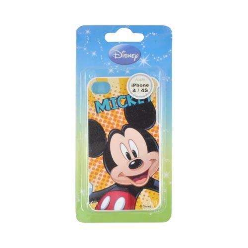 Original Disney AT&T/ Verizon Apple iPhone 4, iPhone 4S Hard Case - Fun Mickey Mouse on Gold Yellow