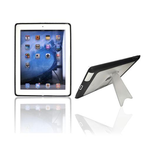 Made for Apple iPad 2 Hard Back w/ Gummy Border and Stand Case - Clear/Black by Redshield