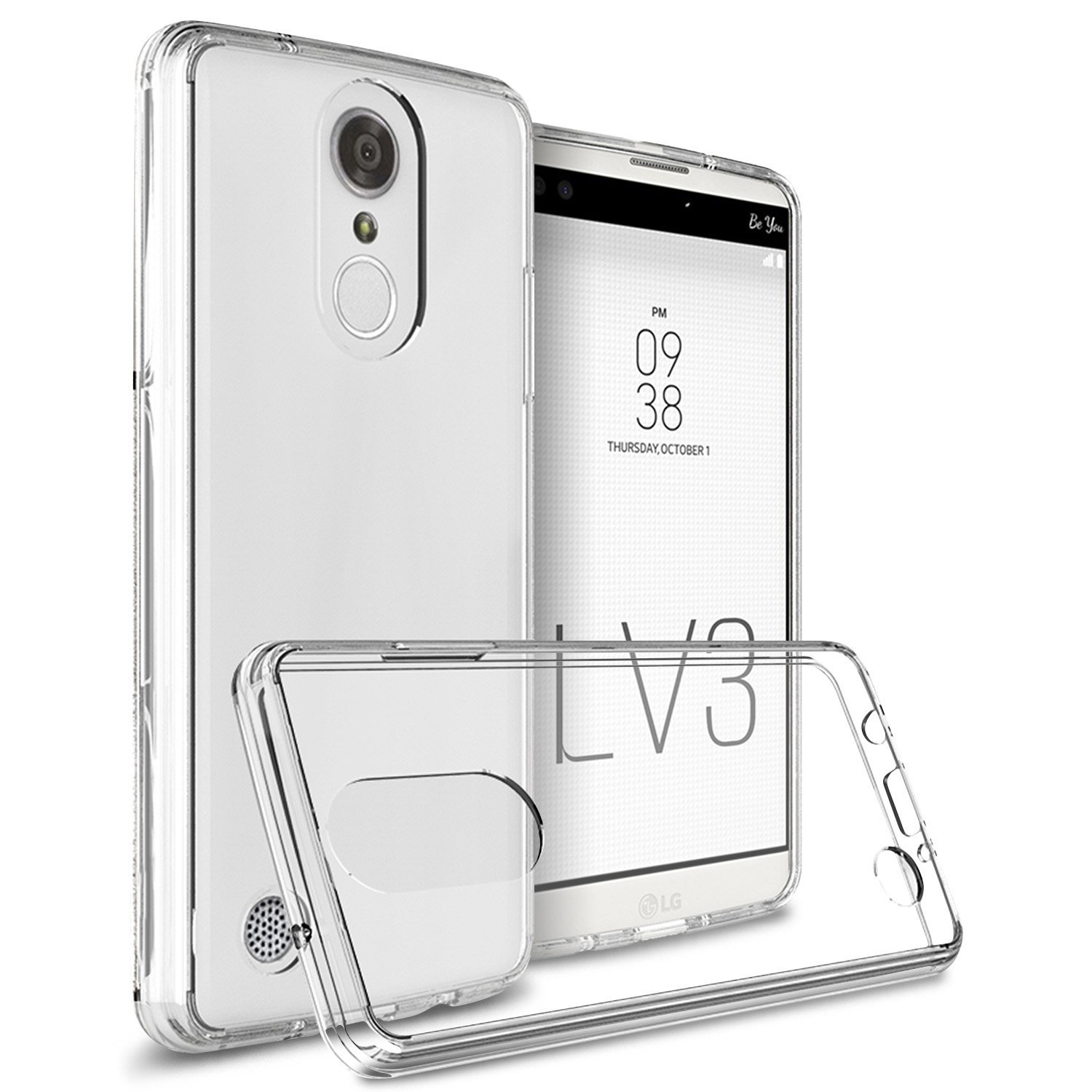 LG Aristo/ Fortune Case, Crystal Back Bumper Case [Drop Protection] Flexible Border Case [Clear]