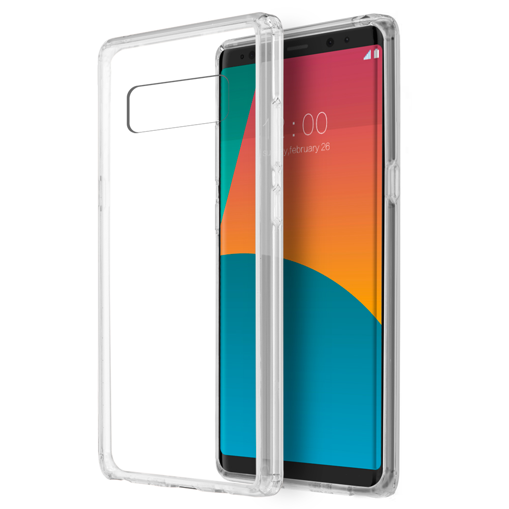 [REDshield] Samsung Galaxy Note 8 Crystal Back Case, [Clear] Fusion Candy Bumper Case [Drop Protection] Flexible Border