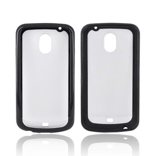 Samsung Galaxy Nexus Hard Back w/ Crystal Silicone Border - Black/ Frost White