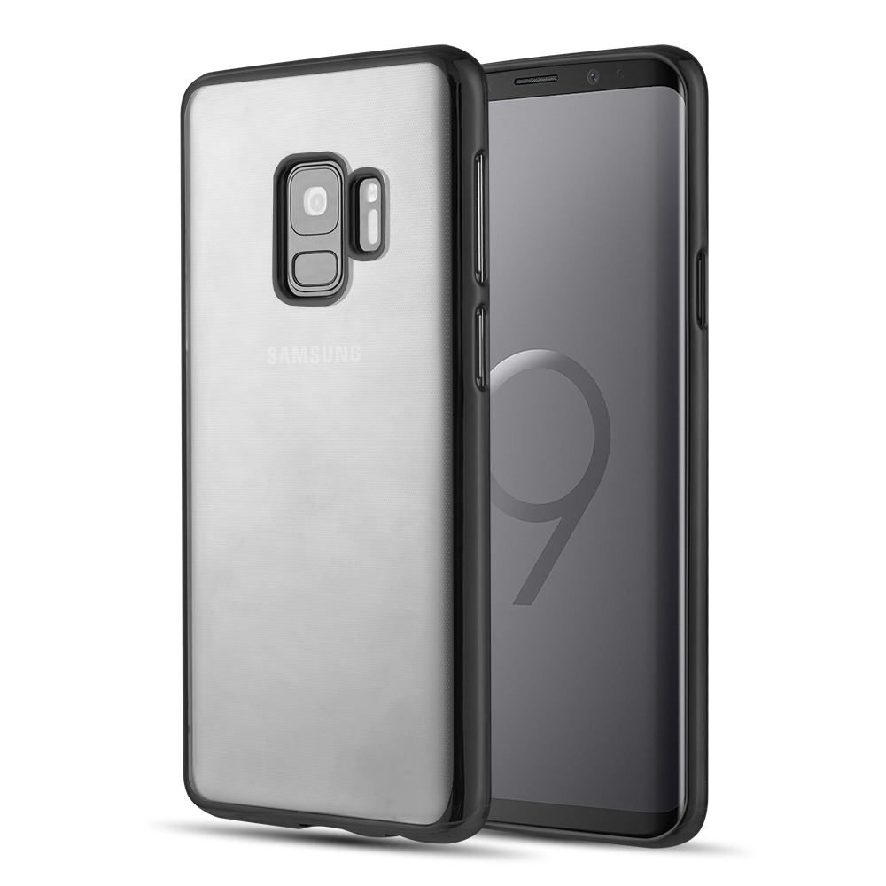[Samsung Galaxy S9] Redshield Transparent TPU Case with Electroplated Frame [Grey]