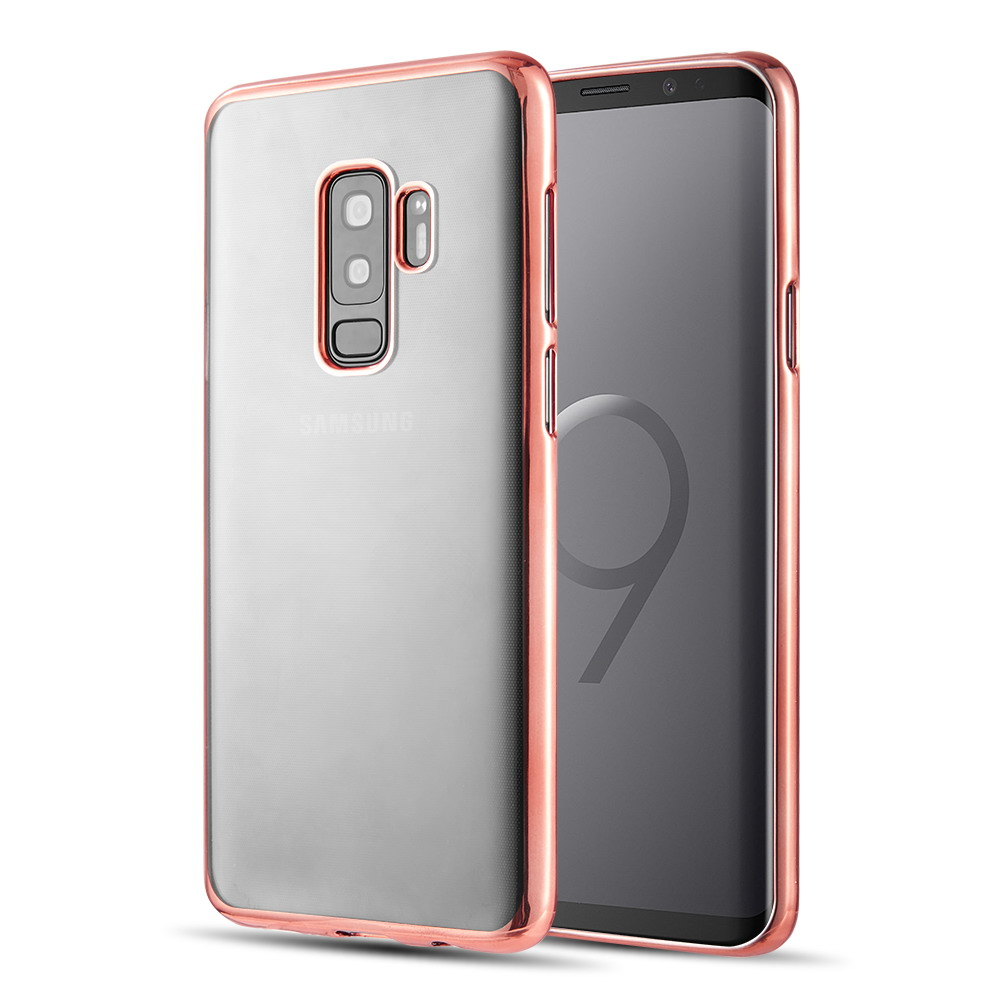 [Samsung Galaxy S9 PLUS] Redshield Transparent TPU Case with Electroplated Frame [Rose Gold]