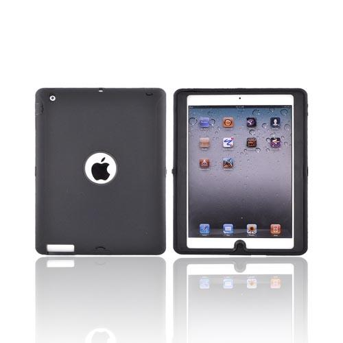 Apple iPad 2 Silicone Over Hard Case - Black