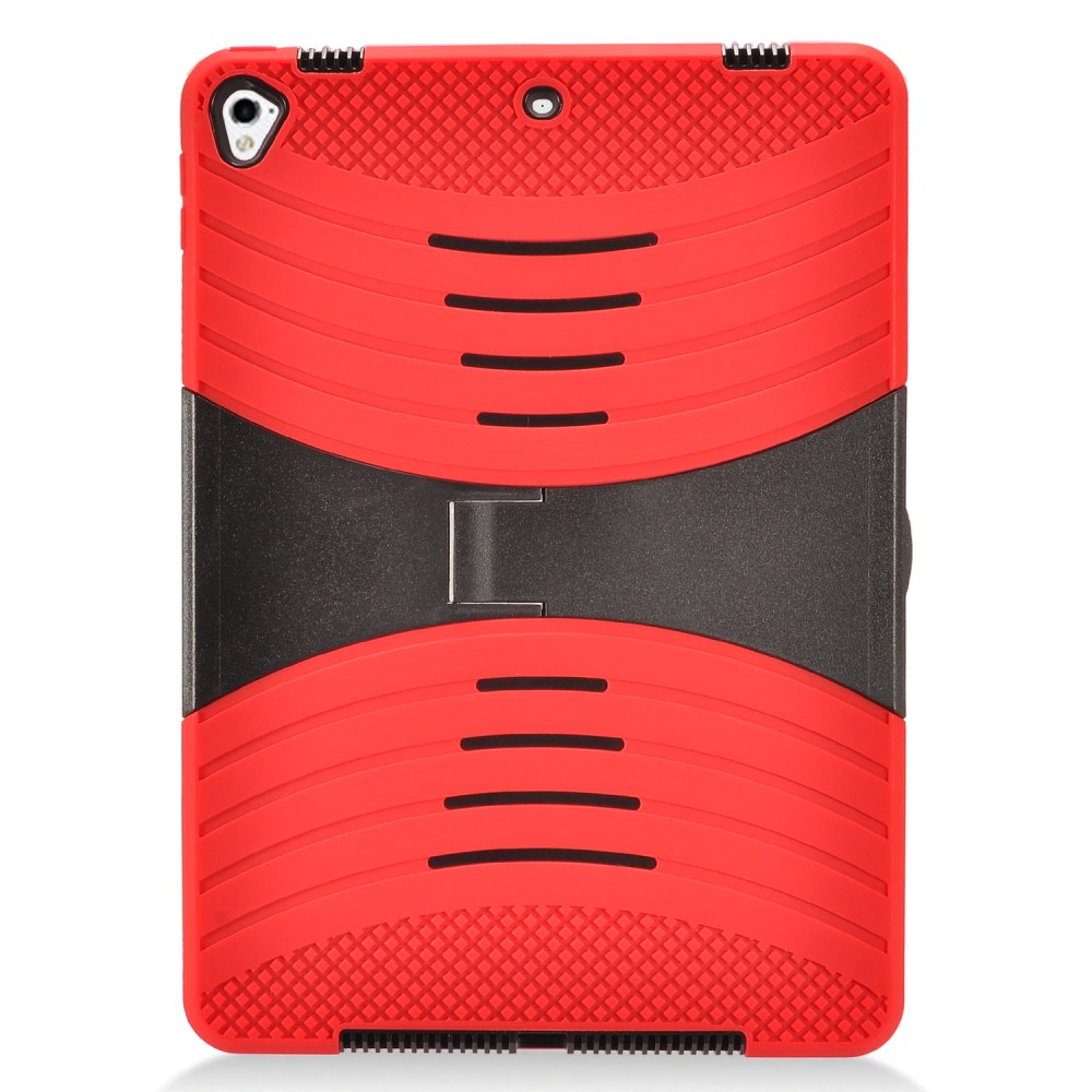 Made for Apple iPad 9.7 inch (2017) Hybrid Case, Supreme Protection Silicone Skin Case on Hard Case Dual Layer Hybrid Case w/ Kickstand [Red] by Redshield