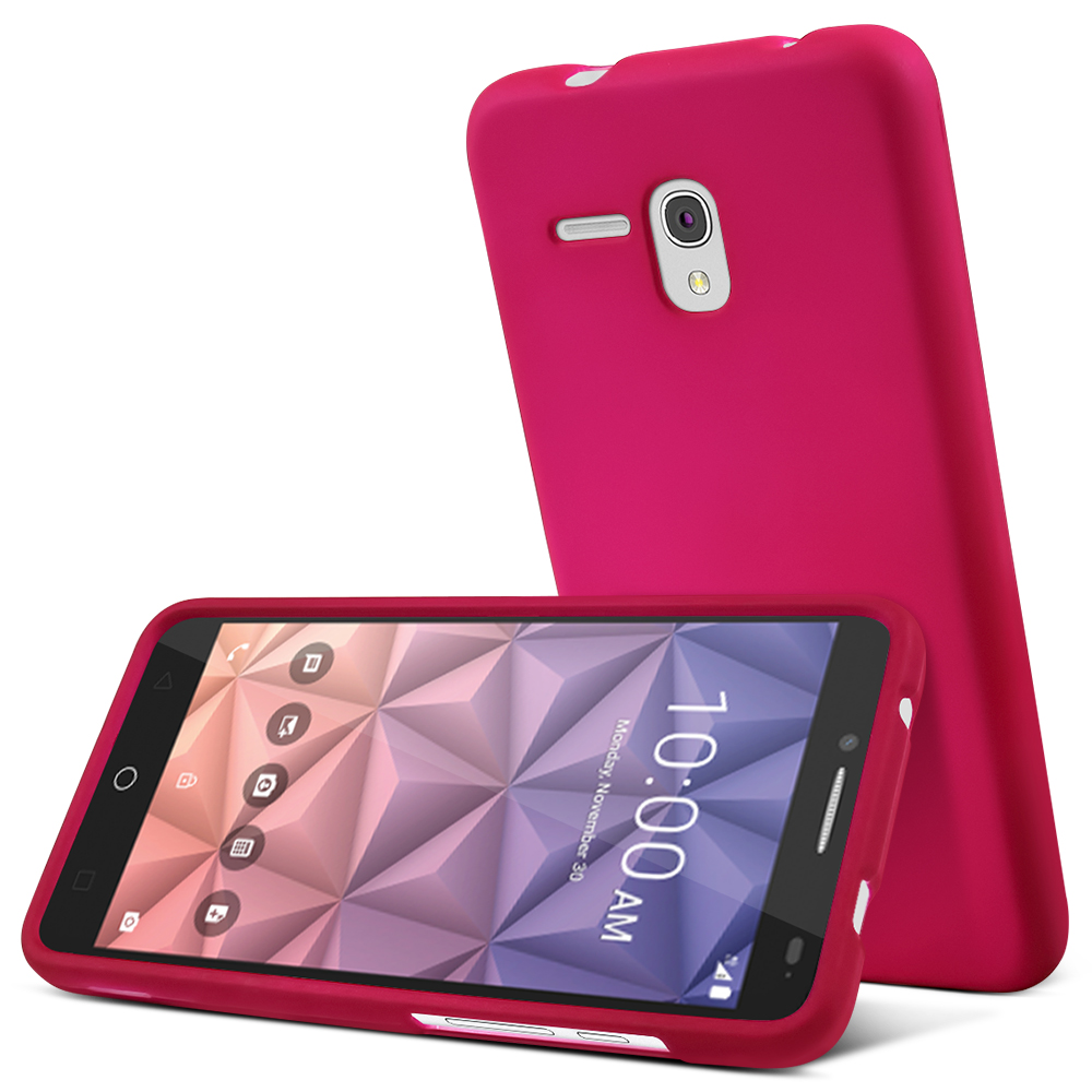 Alcatel OneTouch Fierce XL Case, [Rose Pink] Slim & Protective Rubberized Matte Hard Plastic Case