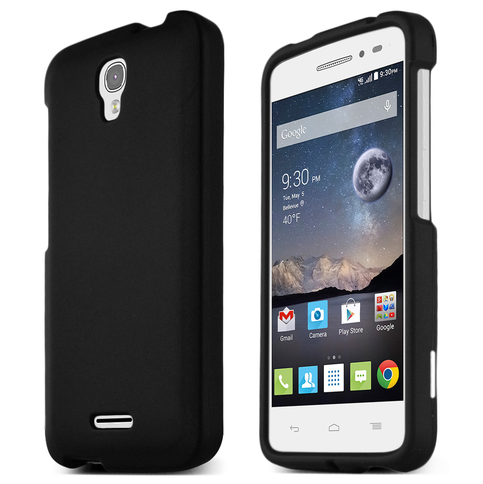 Alcatel Onetouch POP Astro Case, STANDARD BLACK Slim & Protective Rubberized Matte Hard Plastic Case