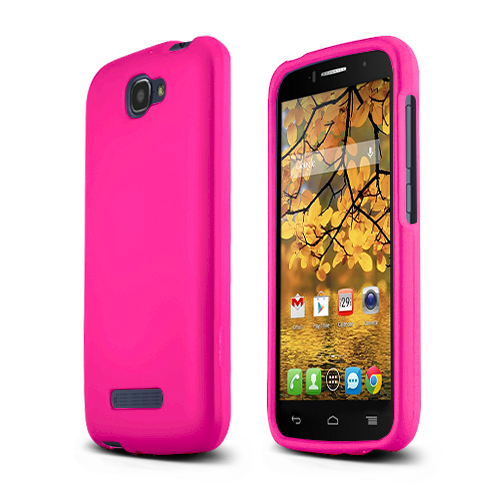 Hot Pink Alcatel One Touch Fierce 2 Matte Rubberized Hard Case Cover; Perfect fit as Best Coolest Design Plastic cases