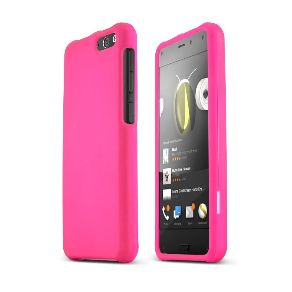 Hot Pink Amazon Fire Matte Rubberized Hard Case Cover; Perfect fit as Best Coolest Design Plastic Cases