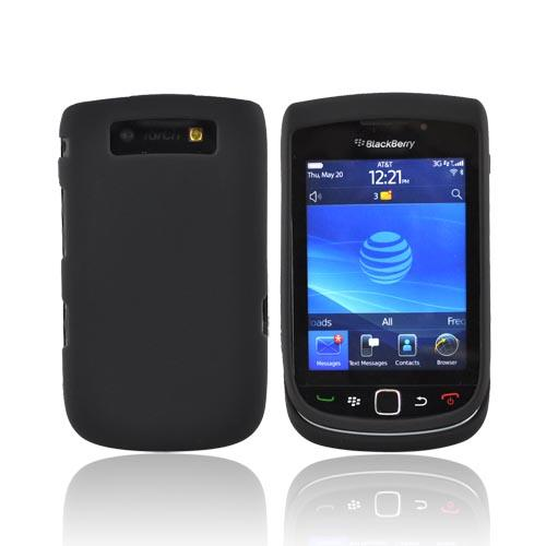 Luxmo Blackberry Torch 9800 Rubberized Hard Case - Black