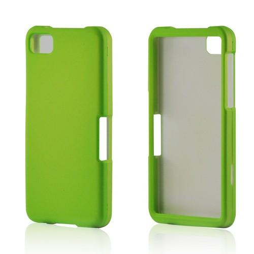 Neon Green Rubberized Hard Case for BlackBerry Z10