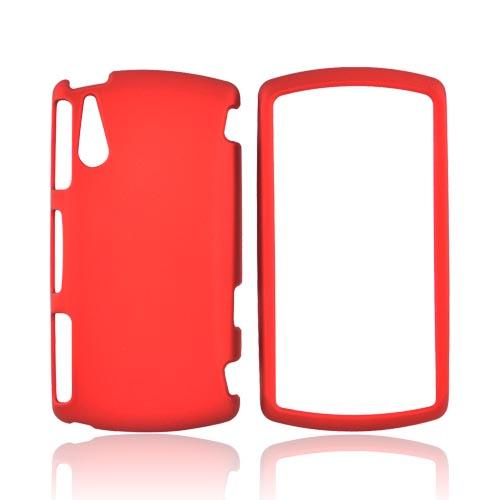 Sony Ericsson Xperia Play Rubberized Hard Case - Red