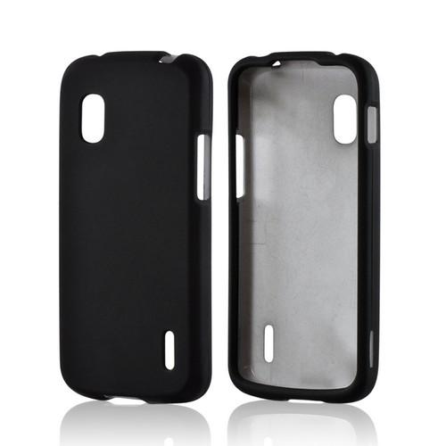 Black Rubberized Hard Case for LG Nexus 4