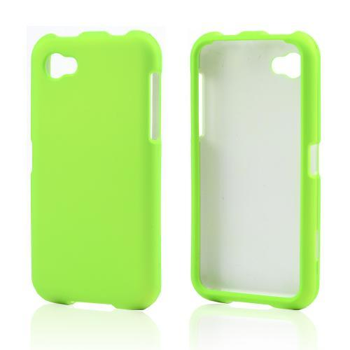 Neon Green Rubberized Hard Case for HTC First