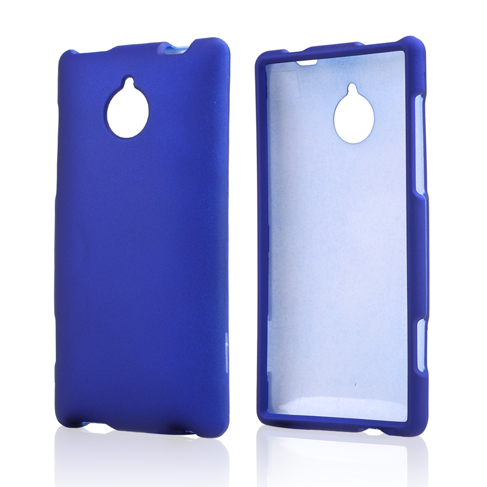 Blue Rubberized Hard Case for HTC 8XT