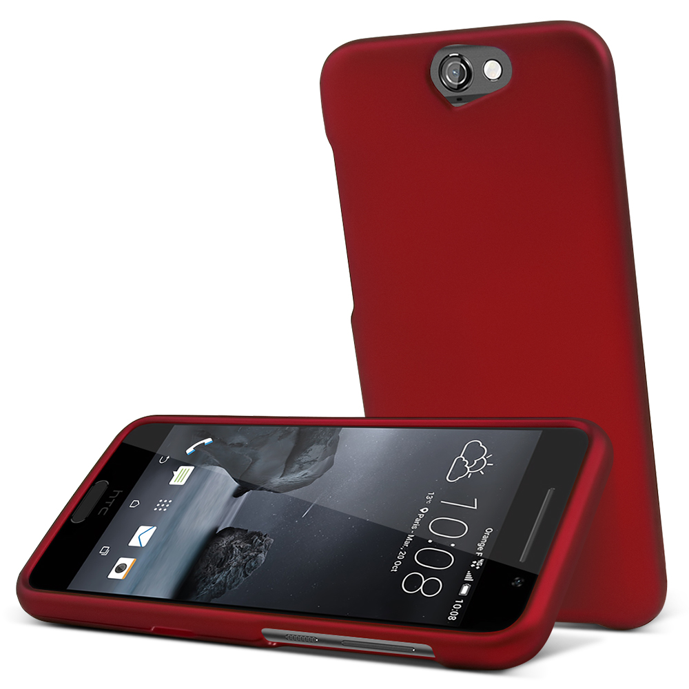 HTC One A9 Case,  [Red]  Slim & Protective Rubberized Matte Finish Snap-on Hard Polycarbonate Plastic Case Cover