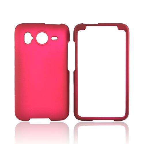 HTC Inspire 4G Rubberized Hard Case - Rose Pink