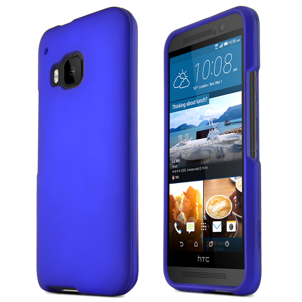 HTC One M9 Case, [Blue]  Slim & Flexible Anti-shock Crystal Silicone Protective TPU Gel Skin Case Cover