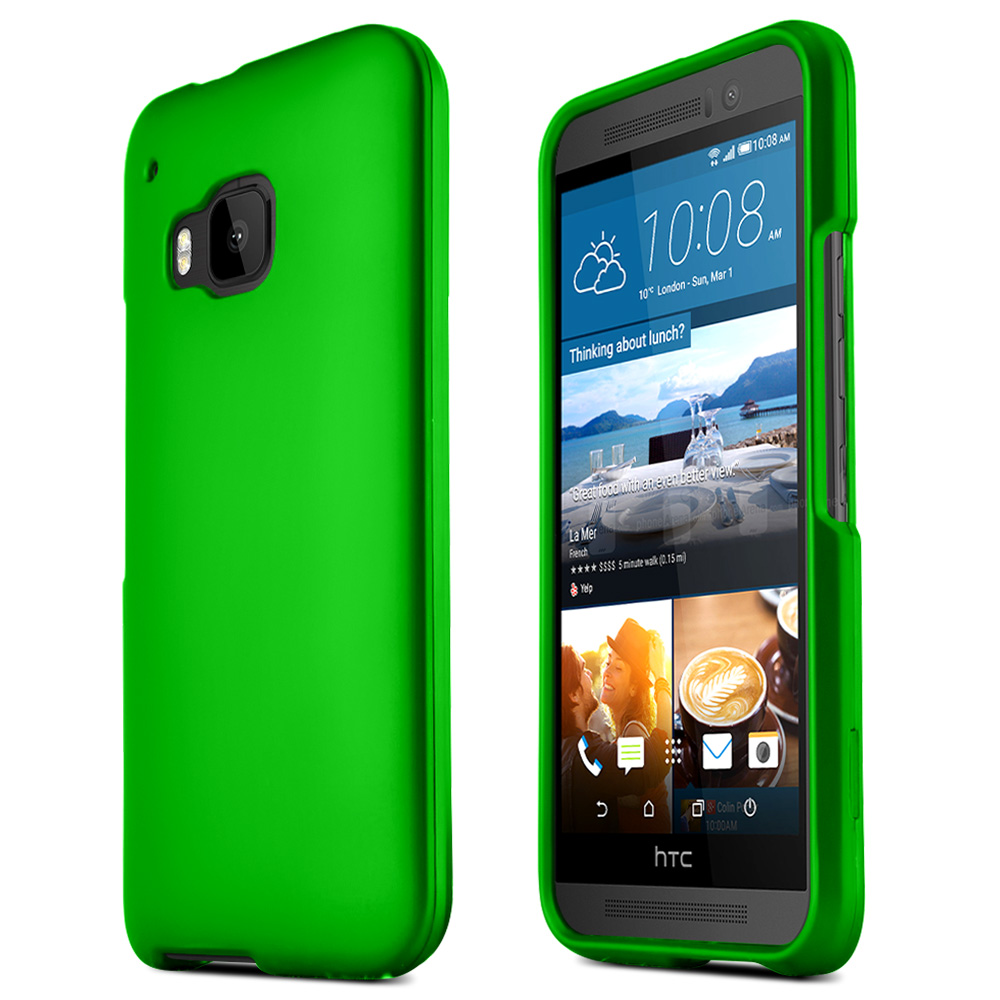 HTC One M9 Case, [Green]  Slim & Flexible Anti-shock Crystal Silicone Protective TPU Gel Skin Case Cover