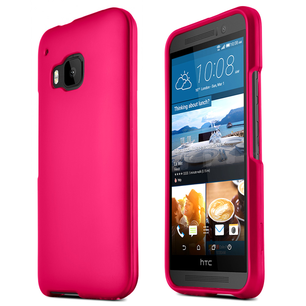 HTC One M9 Case, [Rose Pink]  Slim & Flexible Anti-shock Crystal Silicone Protective TPU Gel Skin Case Cover