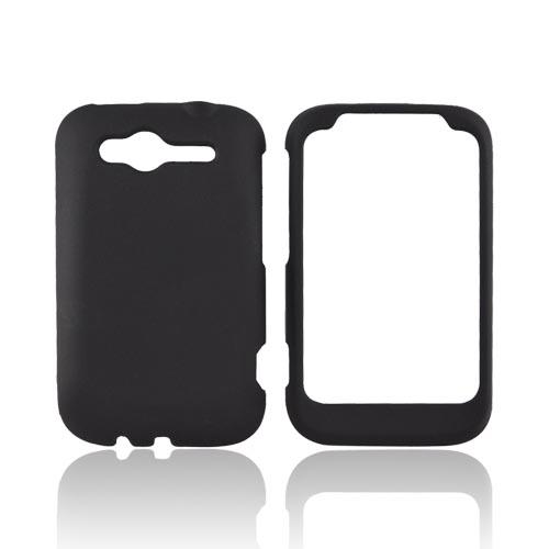 HTC Wildfire S (GSM) Rubberized Hard Case - Black