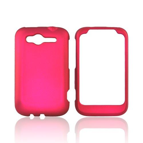HTC Wildfire S (GSM) Rubberized Hard Case - Rose Pink