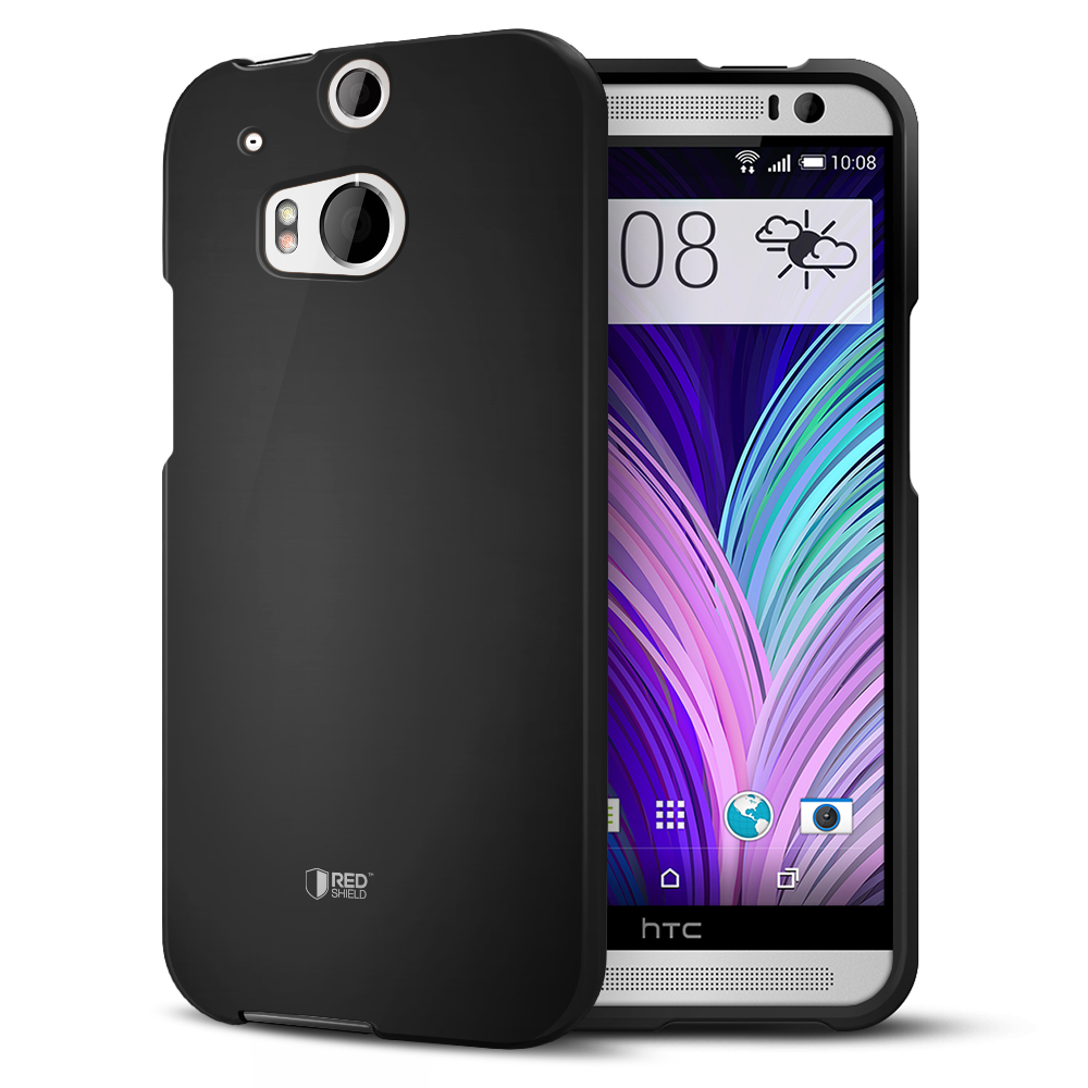 Black Rubberized Hard Case for HTC One (M8)