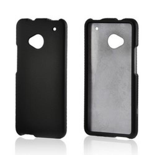 Black Rubberized Hard Case for HTC One
