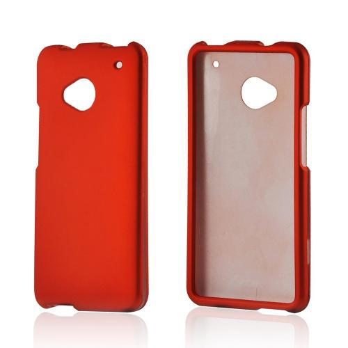 Orange Rubberized Hard Case for HTC One