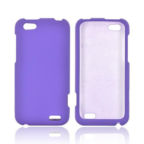 HTC One V Rubberized Hard Case - Purple