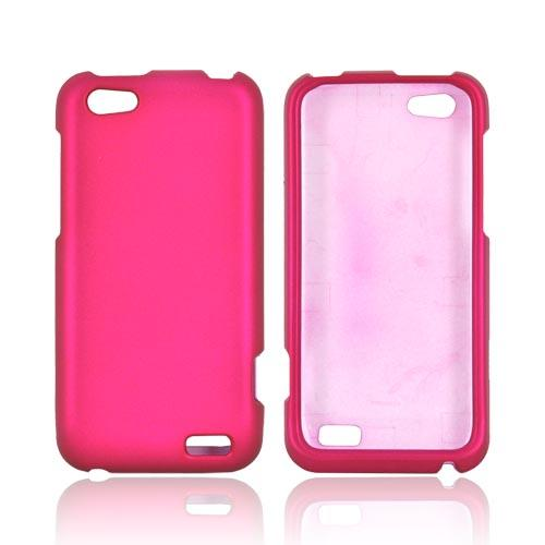 Nokia Lumia 900 Rubberized Hard Case - Rose Pink