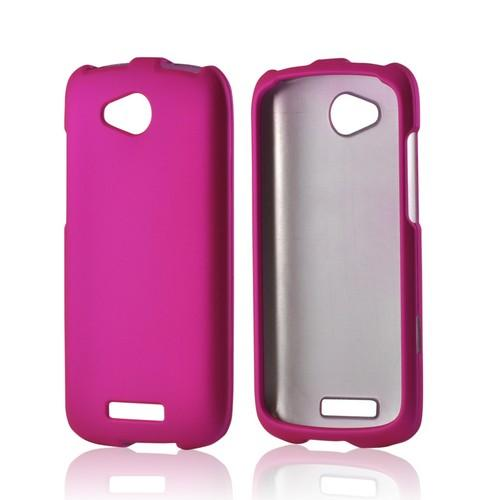 Hot Pink Rubberized Hard Case for HTC One VX