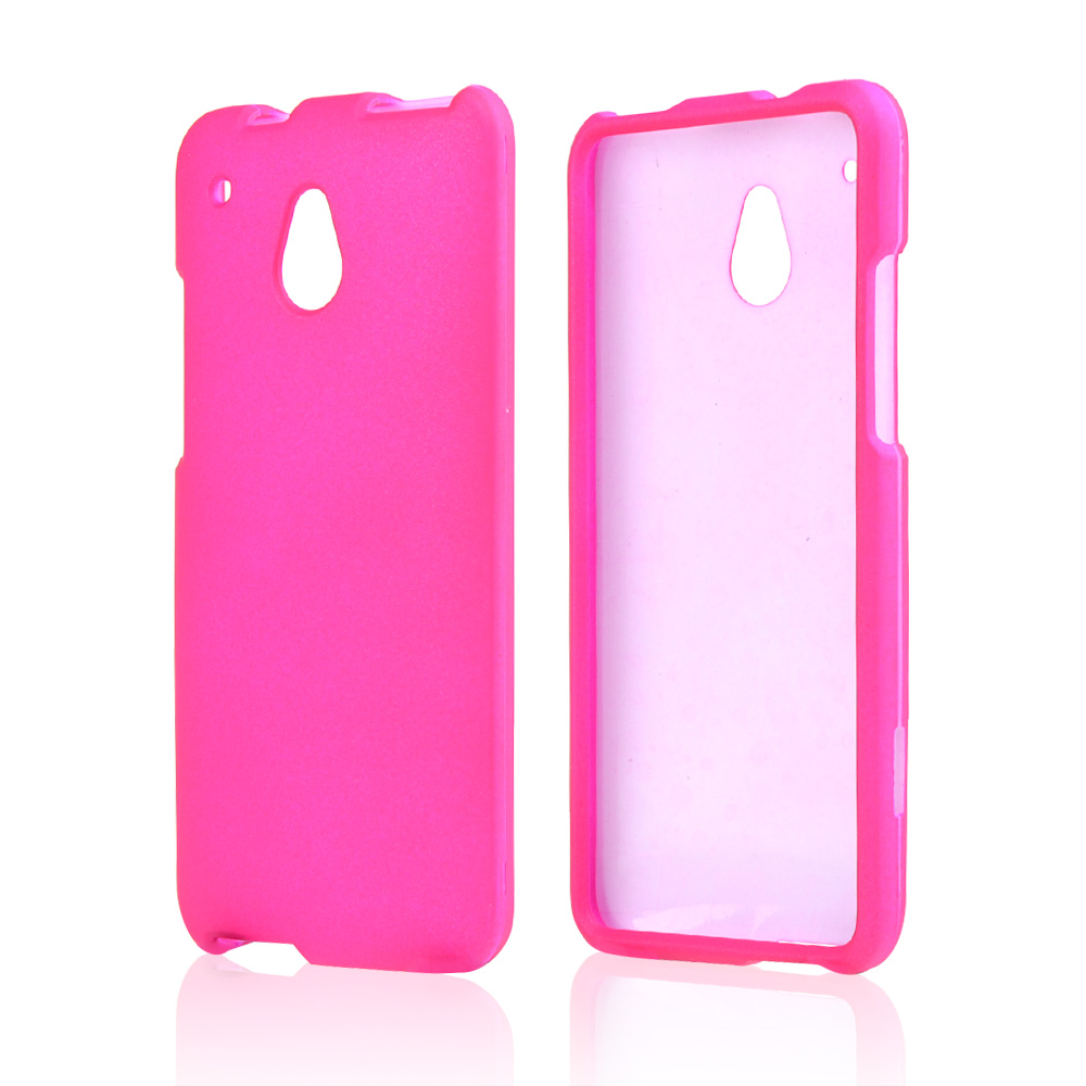 Hot Pink Rubberized Hard Case for HTC One Mini