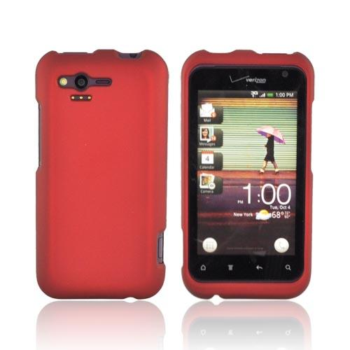 HTC Rhyme Rubberized Hard Case - Red