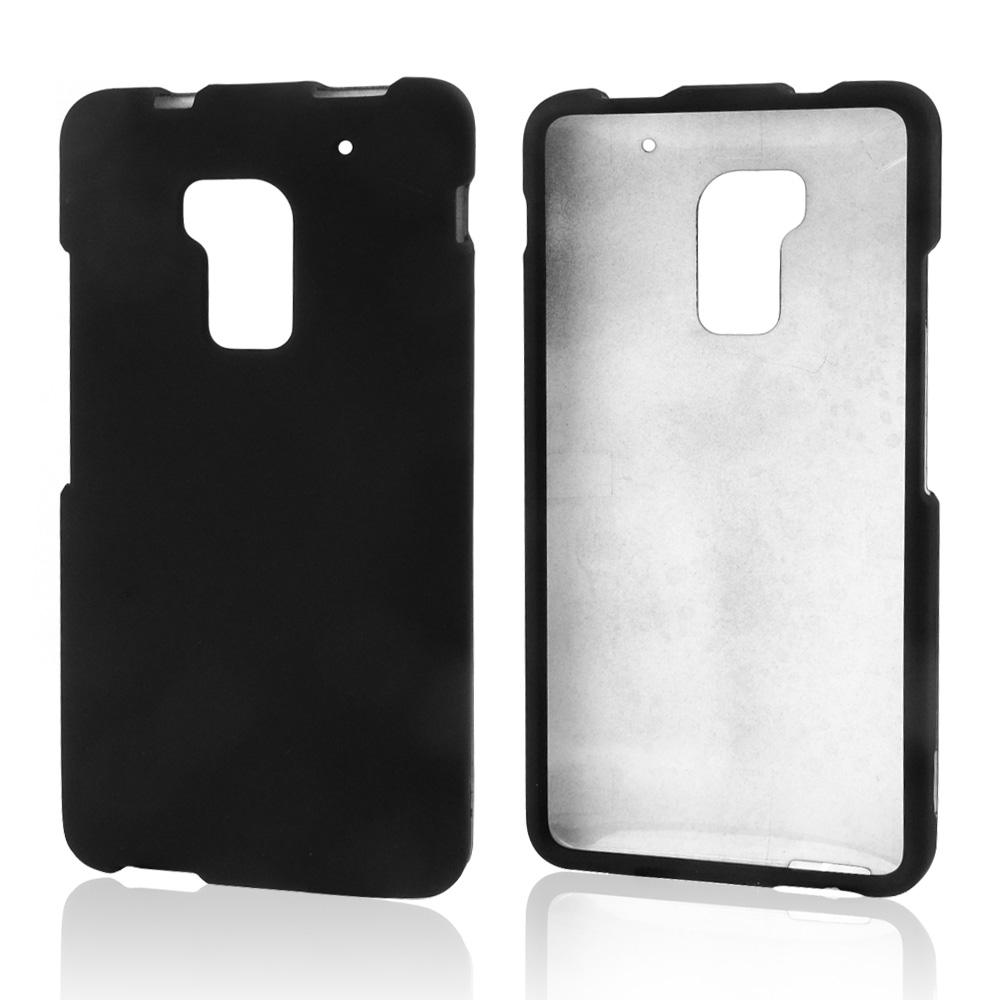Black Rubberized Hard Case for HTC One Max