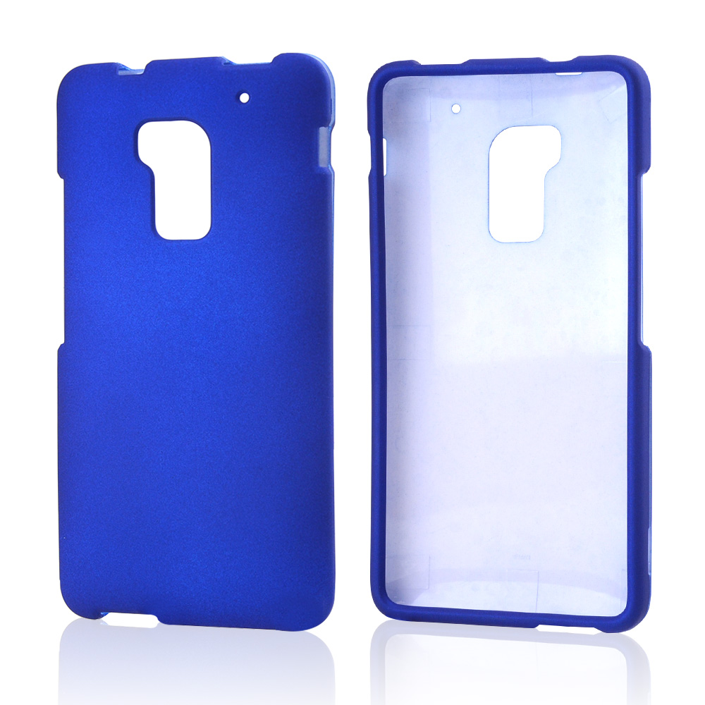Blue Rubberized Hard Case for HTC One Max