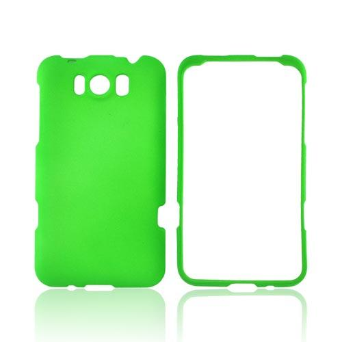 HTC Titan Rubberized Hard Case - Neon Green