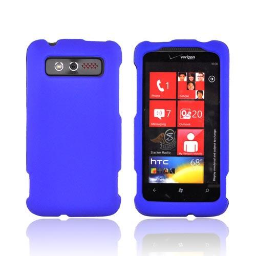 HTC Trophy Rubberized Hard Case - Blue