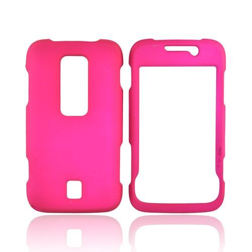 Huawei Ascend M860 Rubberized Hard Case - Hot Pink