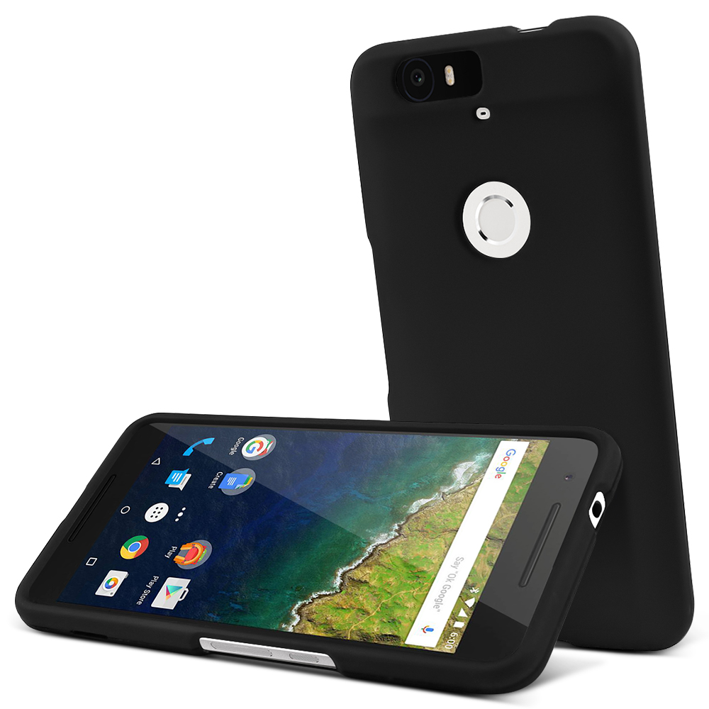 Huawei Nexus 6P Case,  [Black]  Slim & Protective Rubberized Matte Finish Snap-on Hard Polycarbonate Plastic Case Cover