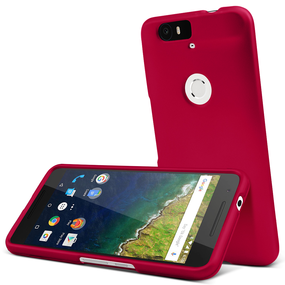 Huawei Nexus 6P Case, [Rose Red] Slim & Protective Rubberized Matte Finish Snap-on Hard Polycarbonate Plastic Case Cover