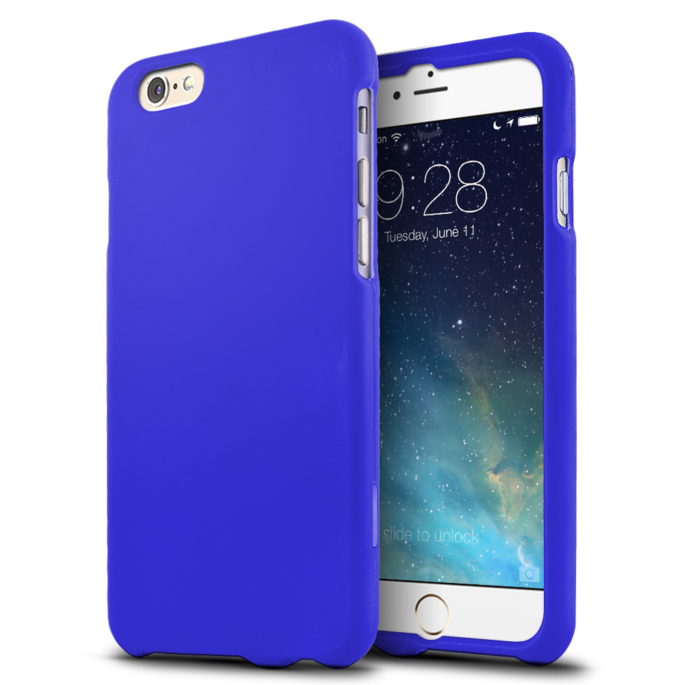 Apple iPhone 6/ 6S Case,  [Blue]  Slim & Protective Rubberized Matte Finish Snap-on Hard Polycarbonate Plastic Case Cover